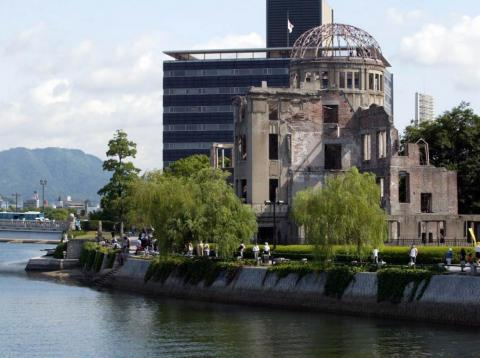 The A-bomb Dome, which survived the 1945 atomic bombing on Hiroshima.