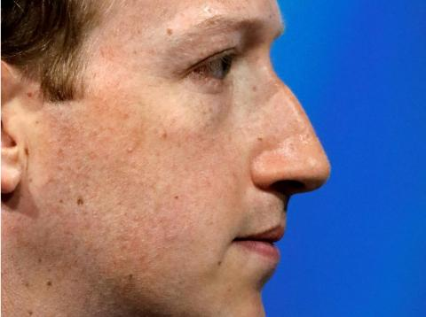 Facebook's founder and CEO Mark Zuckerberg.