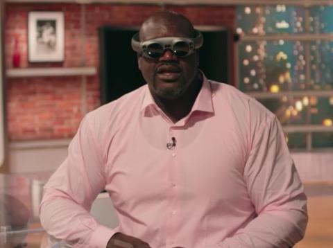 La exestrella de la NBA Shaquille O'Neal con unas Magic Leap One [RE]