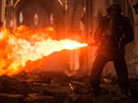 Un momento del Call of Duty WWII [RE]