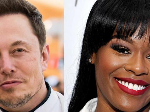 Tesla CEO Elon Musk and rapper Azealia Banks.