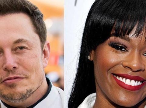 Tesla CEO Elon Musk and rapper Azealia Banks.