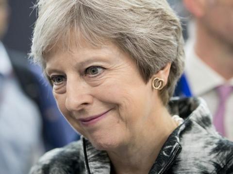 La primera ministra británica, Theresa May [RE]