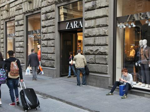 Una tienda de Zara, del grupo Inditex.