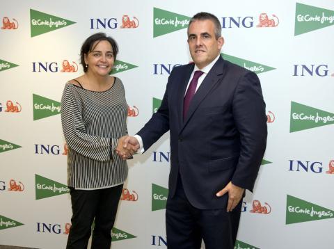 Almudena Román, directora general de Banca para Particulares de ING, y Víctor del Pozo, consejero delegado de El Corte Inglés