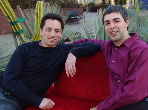 Google founders Sergey Brin and Larry Page back in the company's early days.