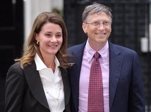 """""""Melinda and I believe that everyone deserves the chance for a healthy and productive life — and so with the help of our amazing partners, we are working to find innovative ways to help people in need all over the world,"""" Bill"""