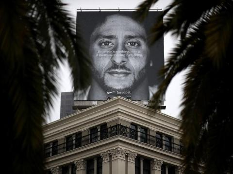 Nike's new campaign features former NFL player Colin Kaepernick.