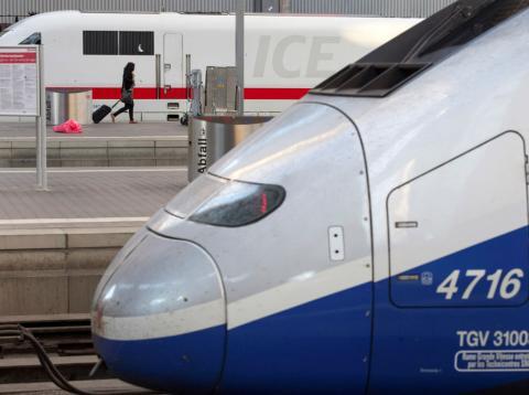 Un tren de alta velocidad TGV