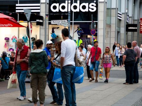Adidas partners with Amazon to sell its products online in the United States.