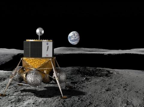 """Blue Moon is a concept for a """"large lunar lander"""" that Jeff Bezos' aerospace company, Blue Origin, plans to build and launch."""