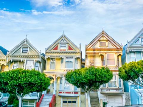 """San Francisco's famous """"Painted Ladies"""" homes."""