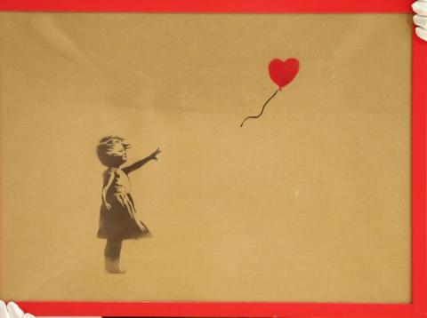 'Girl with Ballon' by Banksy