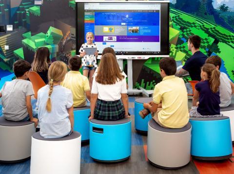 así es el aula del futuro que Microsft ha abierto en Madrid