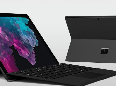 The Microsoft Surface Pro 6 is the latest version of Microsoft's tablet/laptop hybrid — and it now comes in a sleek, matte black finish.