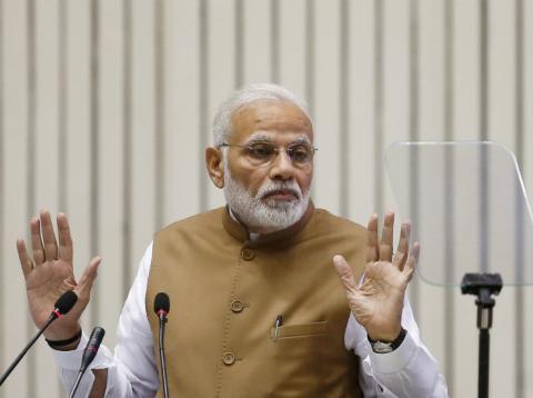 Narendra Modi, en una rueda de prensa