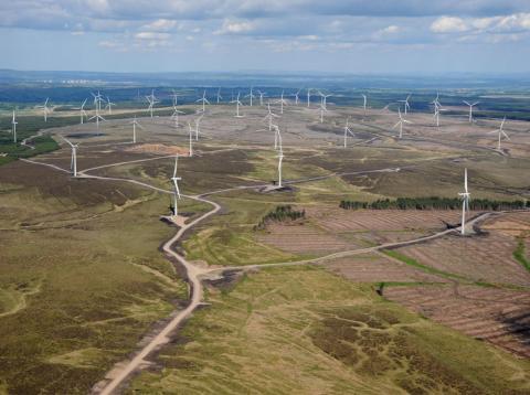 Parque eólico de Whitelee, en Escocia