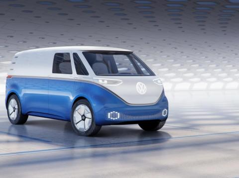 The Volkswagen I.D. Buzz Cargo commercial van is slated to go on sale in either 2021 or 2022.