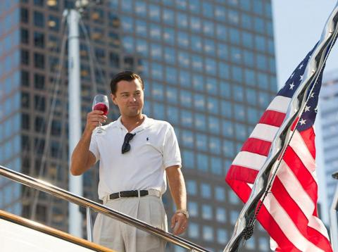 We'd all love to have a toast with Leonardo DiCaprio on a yacht.