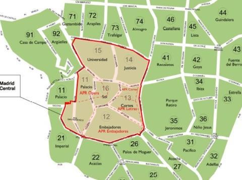 Restricciones Tráfico Madrid Mapa.Guia Para Entender Las Restricciones De Madrid Central