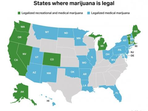 New Jersey lawmakers postponed a critical vote to legalize marijuana — here are all the states where pot is legal