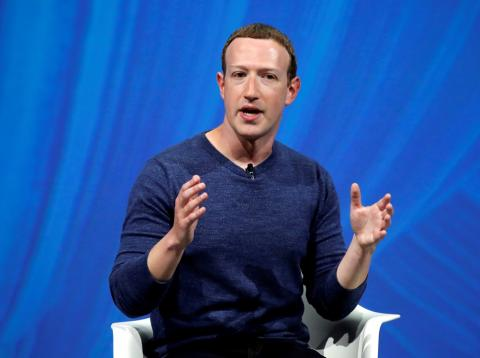 Mark Zuckerberg, CEO de Facebook, en una conferencia en Francia