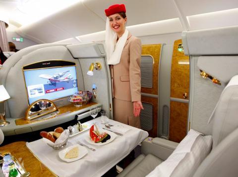 Una plaza exclusiva en un vuelo en primera clase