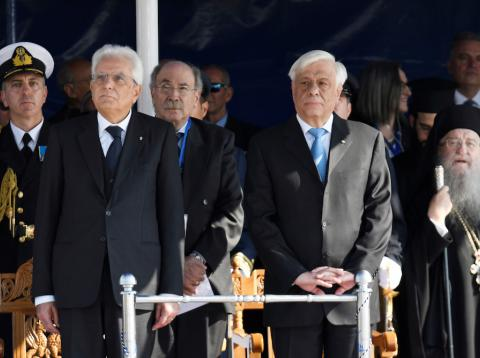 Presidente de Grecia y presidente de Italia