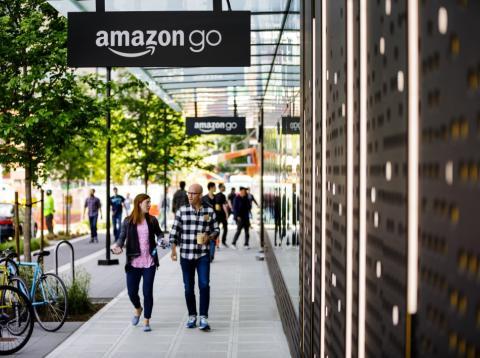 El primer supermercado Amazon Go, en Seattle, EE.UU.