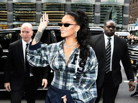 Rihanna is one of many celebrities who is frequently seen flanked by bodyguards for security.