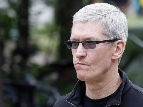 Tim Cook, Apple CEO at the annual Allen and Co. conference in Sun Valley, Idaho Resort July 11, 2013.