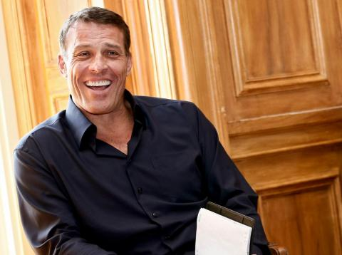 "Tony Robbins (pictured) calls ""The Rainbow Fish"" the adult version of ""Shallow Hal."""