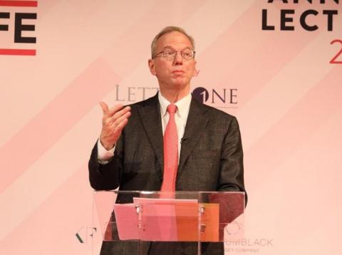 Eric Schmidt gave the Centre for Entrepreneurs lecture in London.