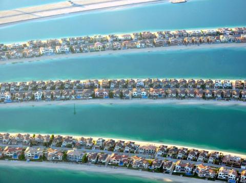 Casas en las ramas de Palm Jumeirah, en Dubai.