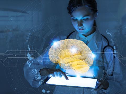 Una investigadora trabaja en Inteligencia Artificial