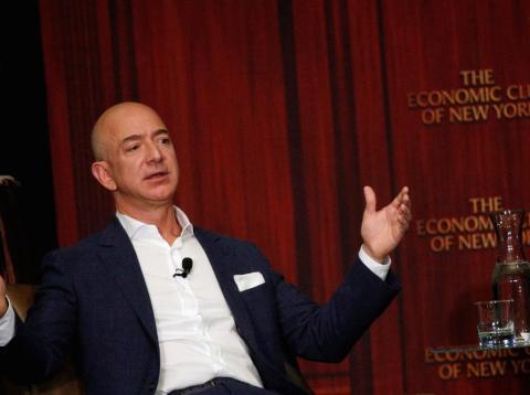 Jeff Bezos saw Amazon's market value plunge by $51 billion on Tuesday.