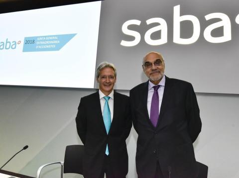 Josep Martínez Vila, CEO de Saba, y Salvador Alemany, presidente