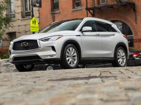 Our 2019 Infiniti QX50 test car.
