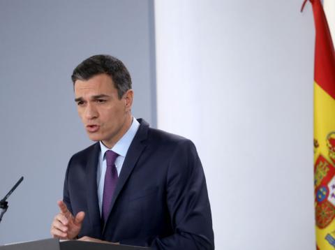 Pedro Sánchez, presidente del Gobierno, tras un Consejo de Ministros.
