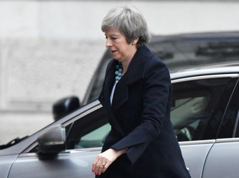 Theresa May, entrando en Downing Street