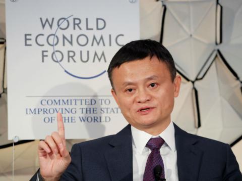 Jack Ma, presidente ejecutivo de Alibaba, en el Foro Económico Mundial de Davos en 2019