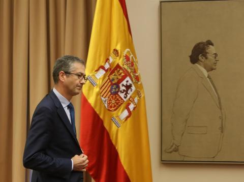 Pablo Hernández de Cos, presidente del Banco de España, en el Congreso