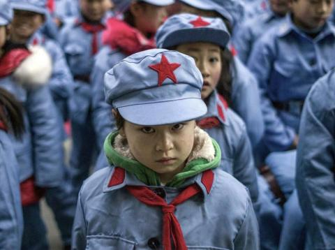Children wearing uniforms in China.