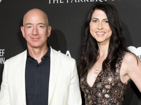 Jeff Bezos and his wife, MacKenzie Bezos.