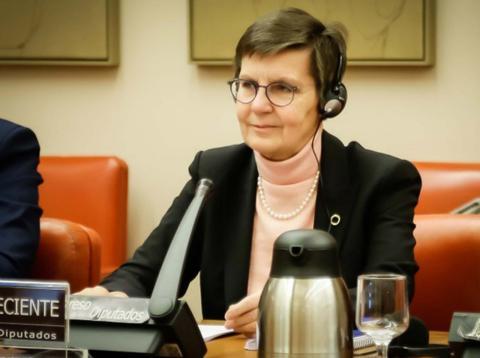 Elke König, Presidenta de la Junta Única de Resolución, comparece en el Congreso de los Diputados para explicar la liquidación de Banco Popular