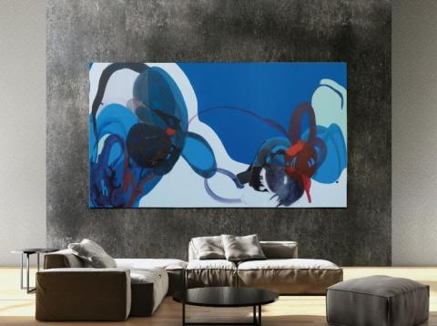 Más que un simple televisor, The Wall se concibe como un medio para exponer arte. [RE]