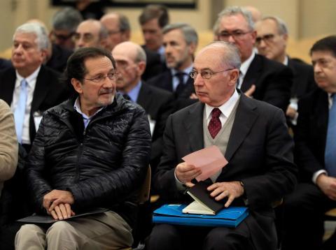 Rodrigo Rato durante su comparecencia por el juicio de la salida a Bolsa de Bankia.