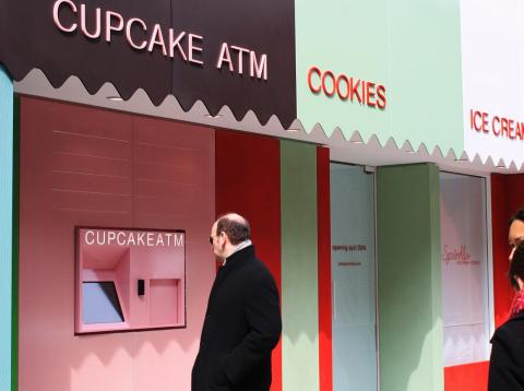 Sprinkles cupcakes has a vending machine attached to some of their stores.
