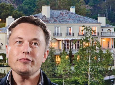 Elon Musk, CEO de Tesla, pagó 17 millones de dólares por su casa en el elegante barrio de Bel Air.