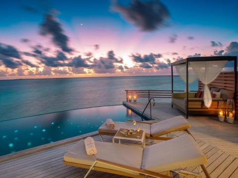 Villas at Baros Maldives start at about $700 per night and can cost upwards of $2,000.